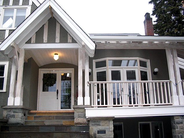 Victorian Renovation - Front Deck View