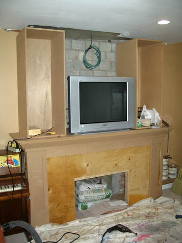 Fireplace Frame With TV