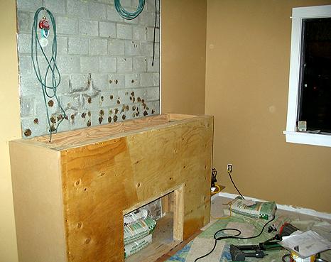 Fireplace Form Work