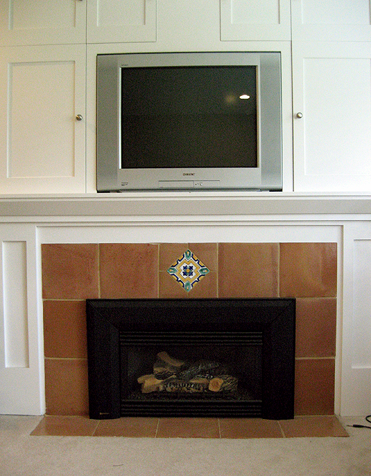 Finished Fireplace Front View