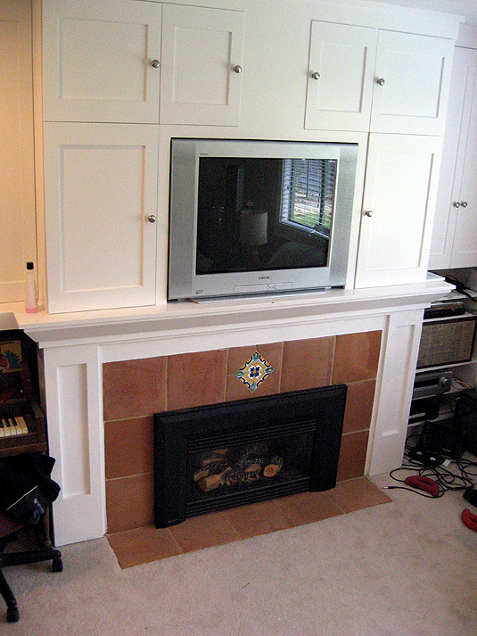 Finished Fireplace From Left