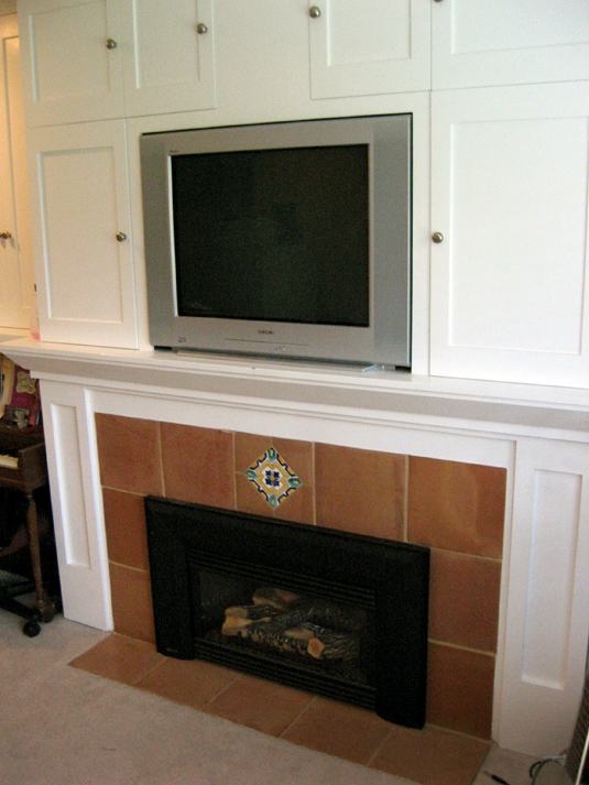 Finished Fireplace From Right