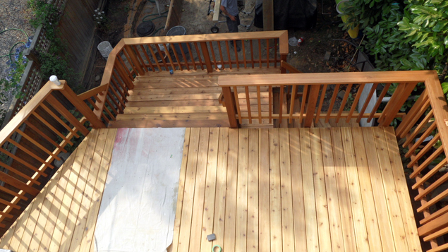 New Back Deck From Upstairs