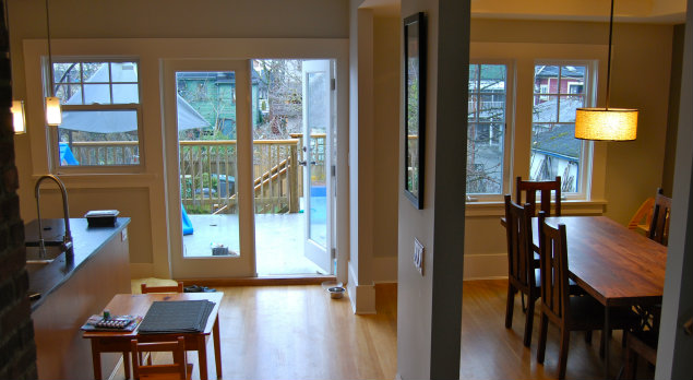 Kitchen & Dining Room View