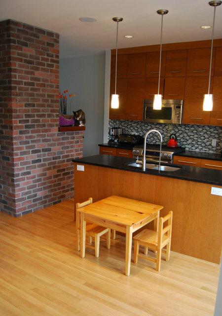 Kitchen Showing Back of Chimney