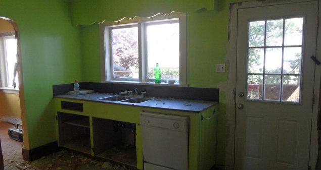 Original Kitchen View Mid Demo Stage