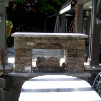 Outdoor Fireplace – Front View